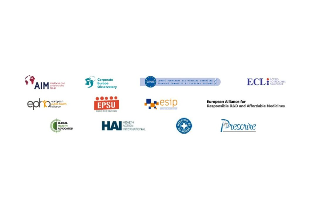 12 EU and international organisations set out recommendations for fair medicines prices